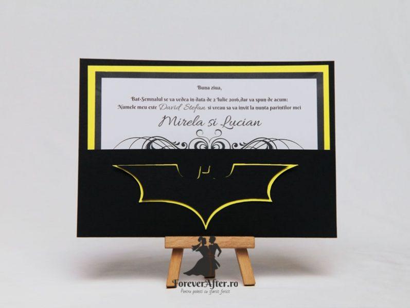 Invitatie De Nunta Batman Invitatii De Nunta Handmade