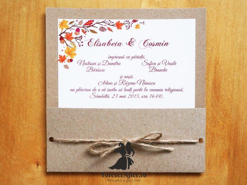 Invitatie De Nunta Toamna Rustica Invitatii De Nunta Romantice