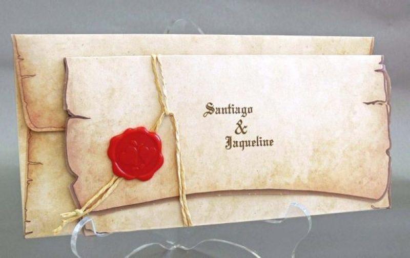 Invitatie Pergament Evul Mediu Cu Sigiliu Invitatii De Nunta