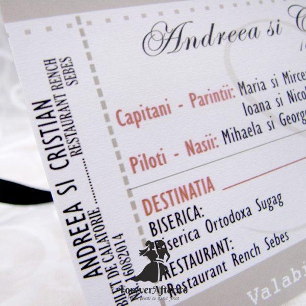 Invitatie De Nunta Bilet De Avion Invitatii De Nunta Moderne