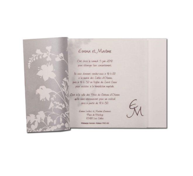 Invitatie De Nunta Cu Flori Argintii Invitatii De Nunta Moderne