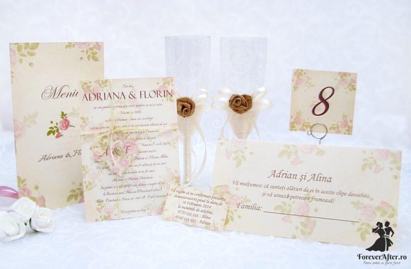 Invitatie De Nunta Vintage Rose Invitatii De Nunta Handmade