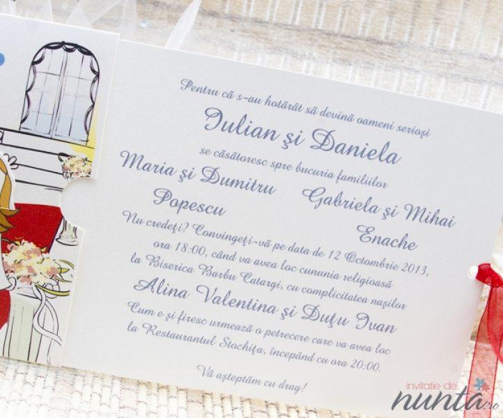 Invitatie Haioasa Alba Poveste Cu Final Fericit Invitatii De Nunta
