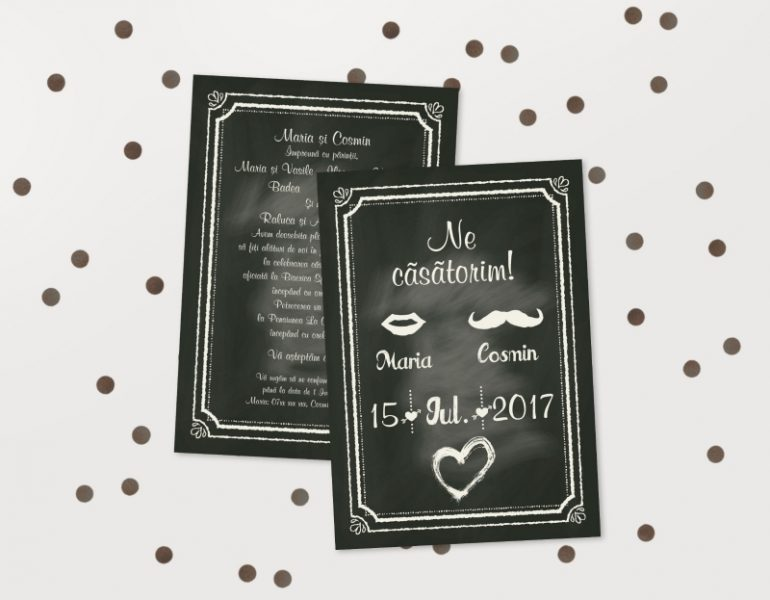 Invitatii Nunta Ieftine Idn021 Invitatii De Nunta Invitatii