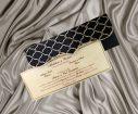 Invitatie de nunta Black Damask