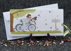 Invitatie de nunta Cursa pe biciclete