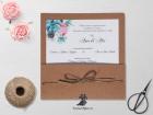 Invitatie de nunta Rustic Flowers Bloom