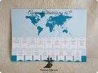 Lista asezare invitati cu tema Travel albastru