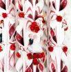 Lumanare grena nunta 80 cm sculptata la capatul superior