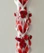 Lumanare rosie nunta 100 cm sculptata la capatul superior