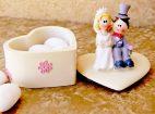 Marturie nunta cutiuta inimioara cu miri color