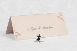 Place card cu floricele Our Love Story
