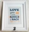 Rama cu mesaj love you To the moon and back