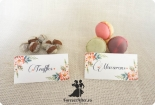 Set 12 etichete candy bar cu coronita de flori