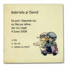 Card de confirmare cu miri pe  motocicleta