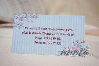 Card de confirmare Delicate Flowers