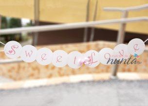 Ghirlanda Sweet Love cu fundita roz
