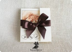 Invitatie 2 in 1 pentru nunta si botez cu poza