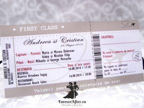 Invitatie de nunta Bilet de avion