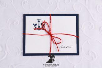 Invitatie de nunta Blue Anchor