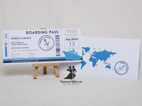 Invitatie de nunta Boarding Pass Cruise