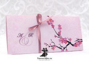 Invitatie de nunta Cherry Blossom