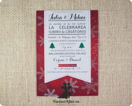 Invitatie de nunta Christmas Love