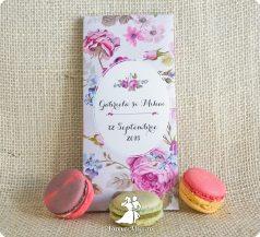Invitatie de nunta ciocolata La vie en Rose