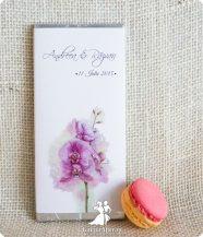Invitatie de nunta ciocolata Orchid Love