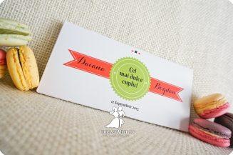 Invitatie de nunta cutie cu ciocolata Reteta Dragostei
