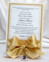Invitatie de nunta Golden Bow