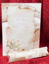 Invitatie de nunta cu portativ