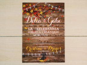 Invitatie de nunta Culorile Toamnei