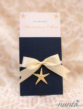 Invitatie de nunta Del Mar bleumarin