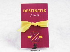 Invitatie de nunta Destinatie perfecta