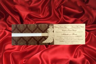 Invitatie de nunta Elegant Brown