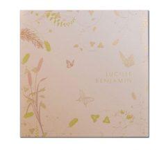 Invitatie de nunta eleganta cu fluturasi si flori