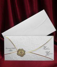 Invitatie de nunta eleganta cu sigiliu