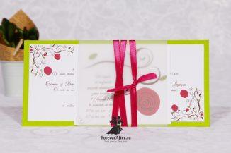 Invitatie de nunta Flower Contrast