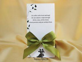 Invitatie de nunta Green Bow