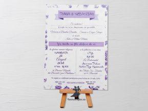 Invitatie de nunta Lavender Sky
