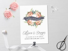 Invitatie de nunta Lovely Flowers