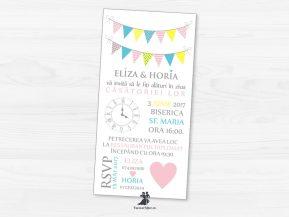 Invitatie de nunta Loving Flags