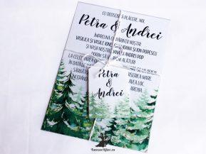 Invitatie de nunta Mountain Love