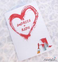 Invitatie de nunta Painted Heart