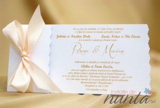 Invitatie de nunta Silky Salmon