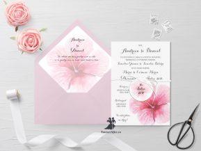 Invitatie de nunta tip card Flower Magic