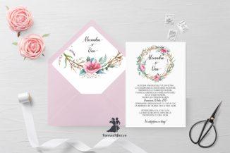 Invitatie de nunta tip card Special Flowers