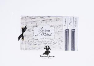 Invitatie de nunta tip carte Wedding Piano