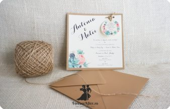 Invitatie de nunta vintage Flowers Bloom